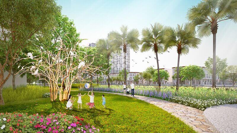 khu vườn xanh mát dành cho cư dân nhí